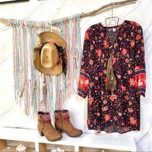 💙❤️BOHO dress with folk spice